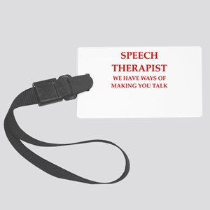speech therapist Luggage Tag
