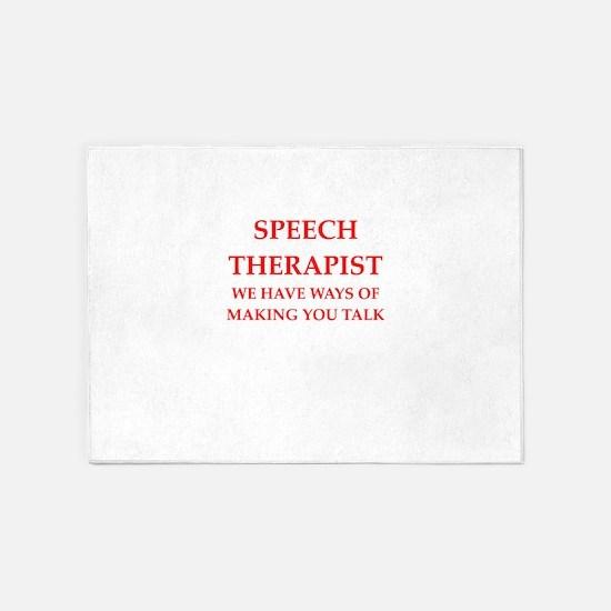 speech therapist 5'x7'Area Rug