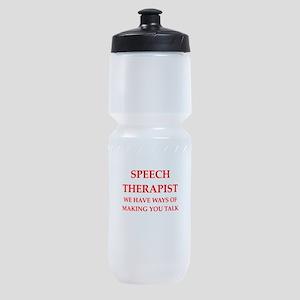 speech therapist Sports Bottle