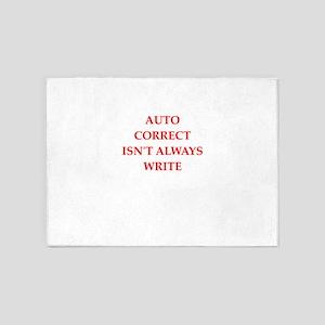 auto correct 5'x7'Area Rug