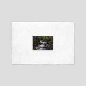 wooded stream 4' x 6' Rug