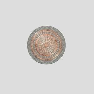 Rose Gold Gray Mandala Mini Button (10 pack)