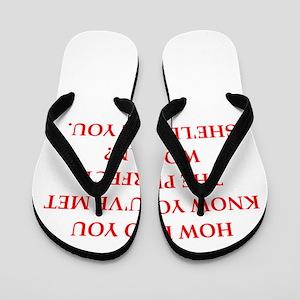 perfect woman Flip Flops