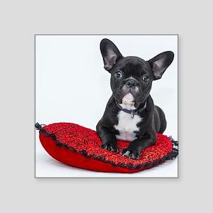 Cute Dog on Heart Cushion Sticker