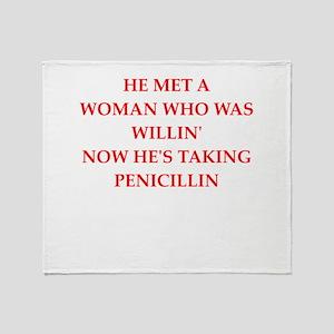 penicillin Throw Blanket