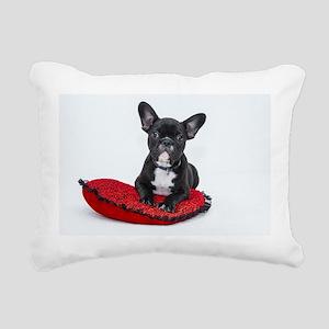 Cute Dog on Heart Cushio Rectangular Canvas Pillow
