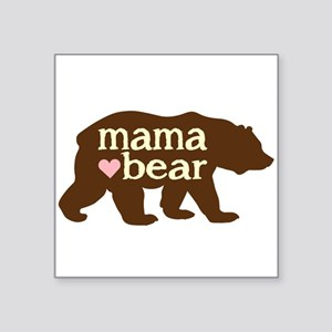 "Mama Bear Square Sticker 3"" X 3"""