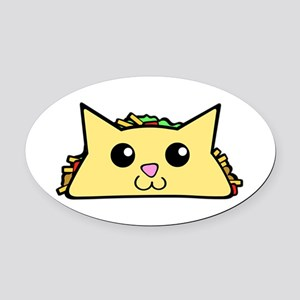 Taco Cat Oval Car Magnet