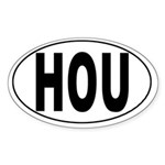 Houston Hobby Int'l Airport Oval Sticker
