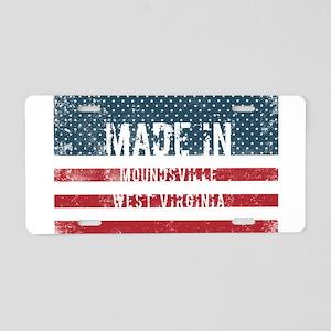 Made in Moundsville, West V Aluminum License Plate