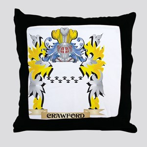 Crawford Coat of Arms - Family Crest Throw Pillow