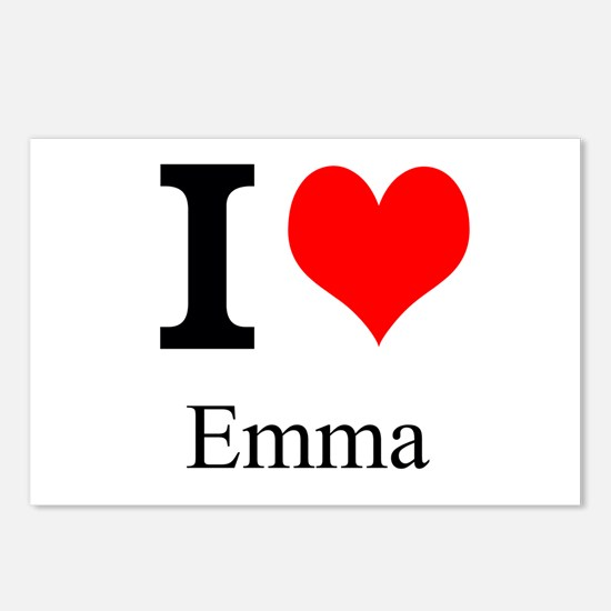 I Love Emma Postcards (Package of 8)