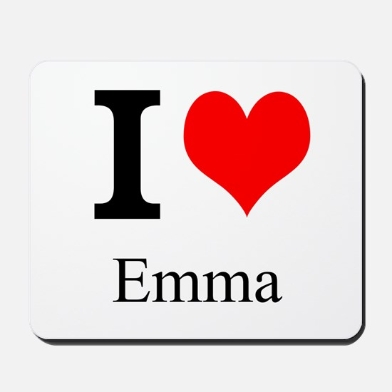 I Love Emma Mousepad