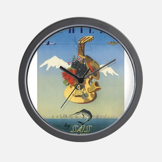 Vintage poster - Chile Wall Clock