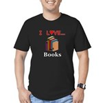I Love Books Men's Fitted T-Shirt (dark)