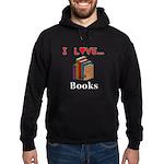 I Love Books Hoodie (dark)