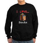 I Love Books Sweatshirt (dark)