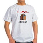 I Love Books Light T-Shirt