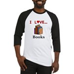I Love Books Baseball Jersey