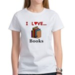 I Love Books Women's T-Shirt