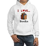 I Love Books Hooded Sweatshirt
