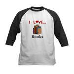 I Love Books Kids Baseball Jersey