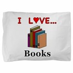 I Love Books Pillow Sham