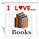 I Love Books Shower Curtain