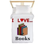 I Love Books Twin Duvet