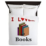 I Love Books Queen Duvet