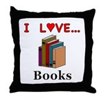 I Love Books Throw Pillow