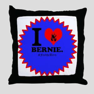 I Love Bernie Throw Pillow