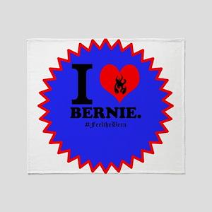I Love Bernie Throw Blanket