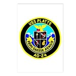 USS Platte (AO 24) Postcards (Package of 8)
