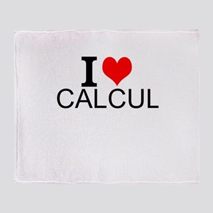 I Love Calculus Throw Blanket