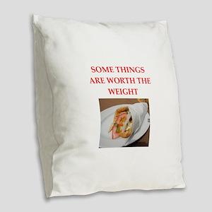 gyros Burlap Throw Pillow