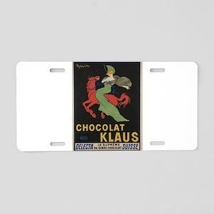 Vintage poster - Chocolat K Aluminum License Plate