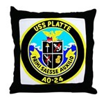 USS Platte (AO 24) Throw Pillow