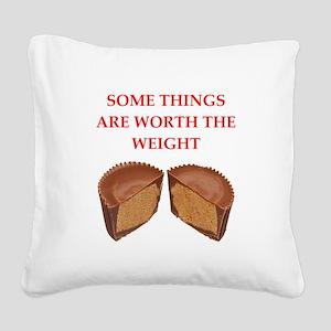 peanut butter cup Square Canvas Pillow