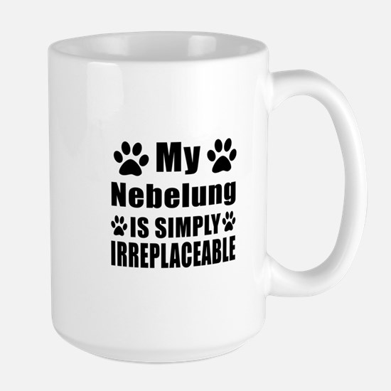 My Nebelung cat is simply irreplaceable Large Mug