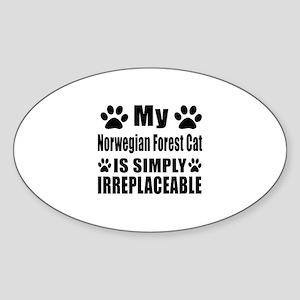My Norwegian Forest Cat cat is simp Sticker (Oval)