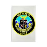 USS Platte (AO 24) Rectangle Magnet (10 pack)