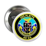 USS Platte (AO 24) Button
