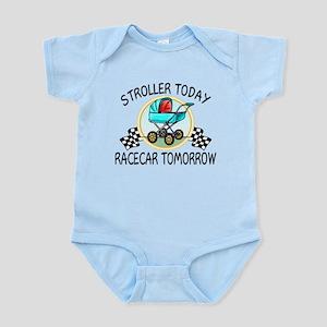 Stroller Today Racecar Tomorrow Infant Bodysuit