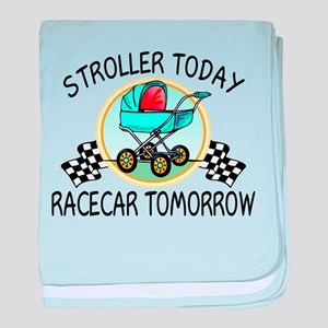 Stroller Today Racecar Tomorrow baby blanket