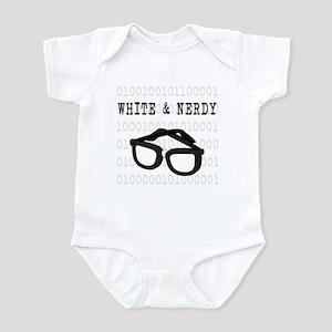 White & Nerdy Infant Bodysuit