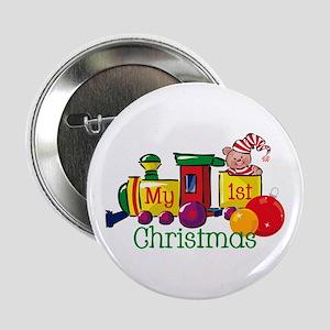 Train 1st Christmas Button