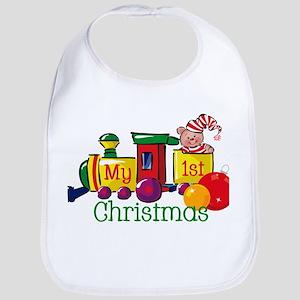 Train 1st Christmas Bib