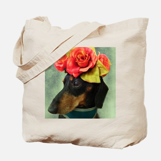 Cute Dachshund birthday Tote Bag