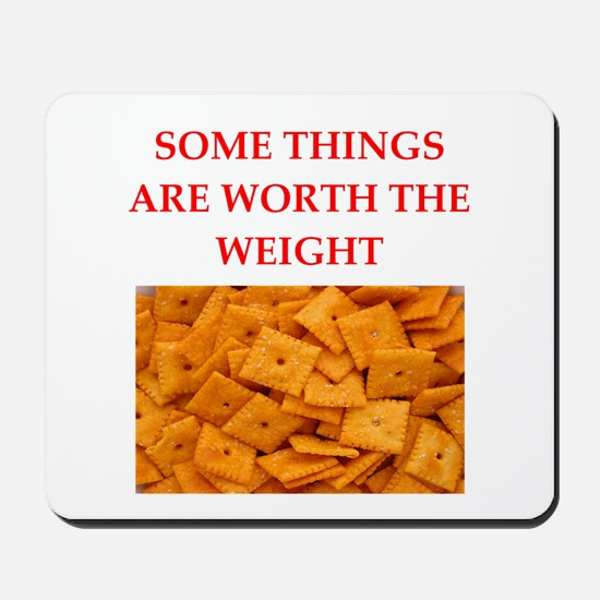 cheese crackers Mousepad
